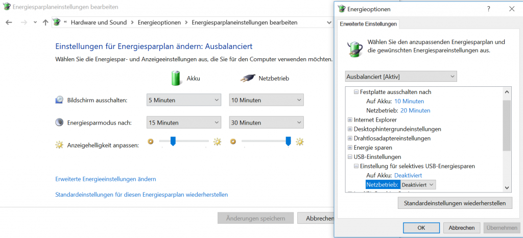 Windows-Energiesparen